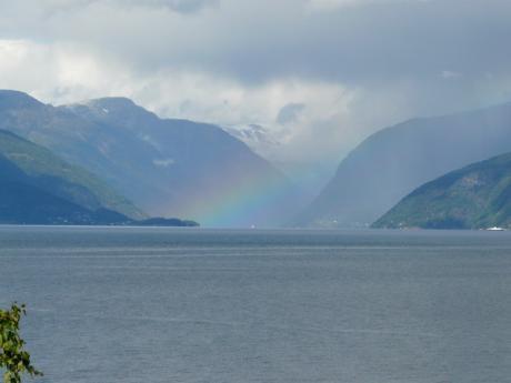 Regenboog en Fjorden, Noorwegen